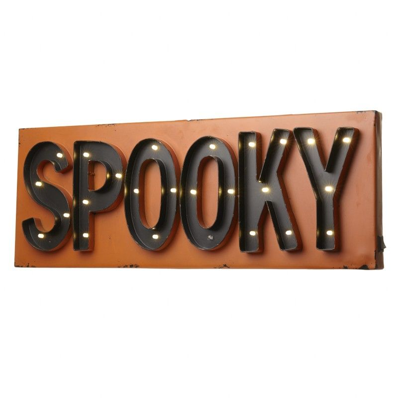 Light Up Led Wall Sign Halloween Spooky